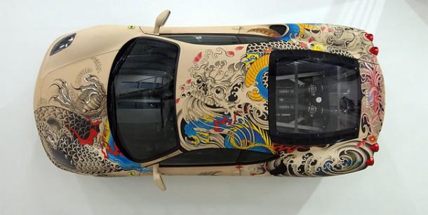 Philippe Pasqua Tattoos a Ferrari F430