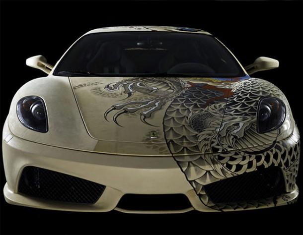 Philippe Pasqua Tattoos a Ferrari F4306