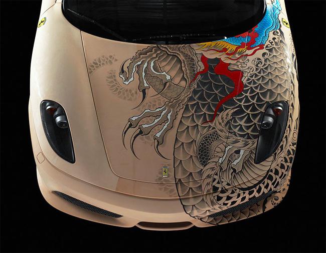 Philippe Pasqua Tattoos a Ferrari F4308