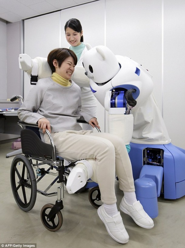 Robear – The Cute Robot That Can Lift Patients