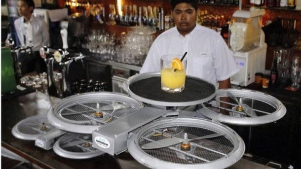 Singapore Restaurant to Use Drone Waiters2