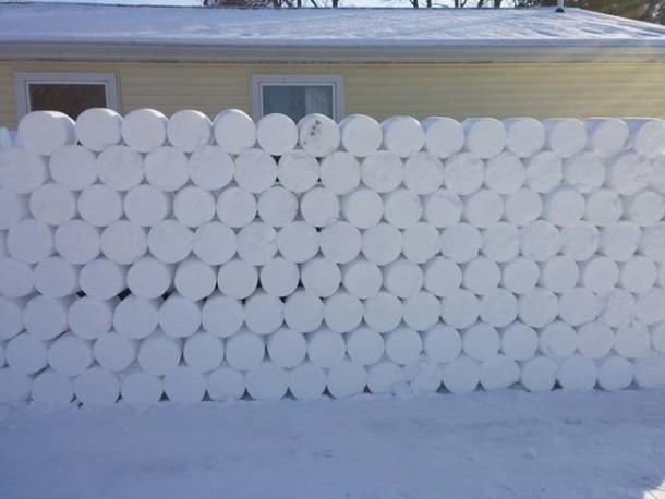 Snow Prank – Constructing an Igloo11