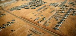 Boneyard of airplanes
