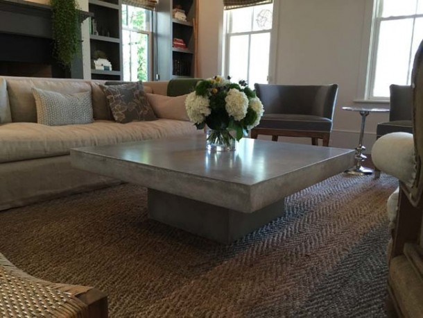 Concrete DIY Coffee Table11