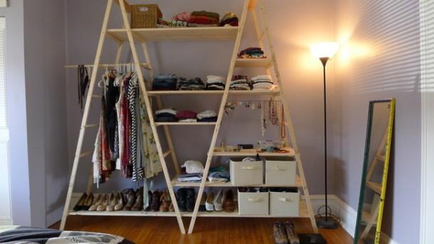 DIY Ladder Shelves 10