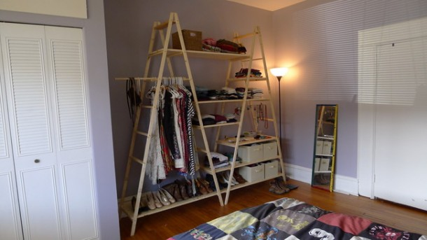 DIY Ladder Shelves 13