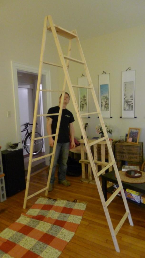 DIY Ladder Shelves 6