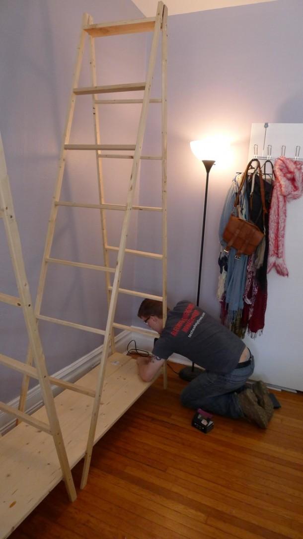 DIY Ladder Shelves 7