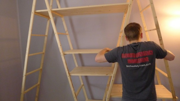 DIY Ladder Shelves 8