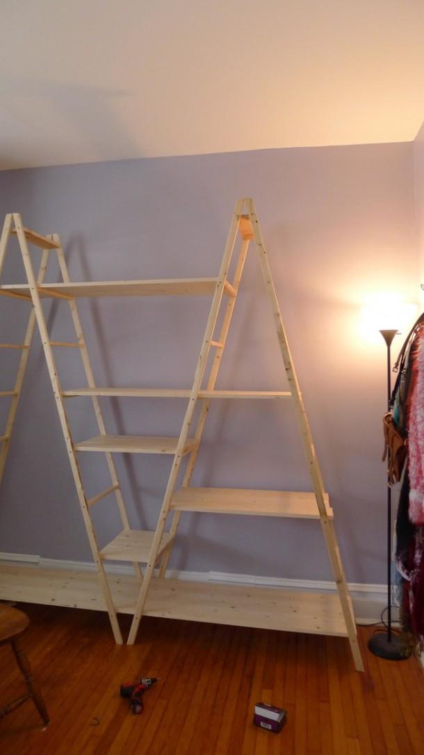 DIY Ladder Shelves 9