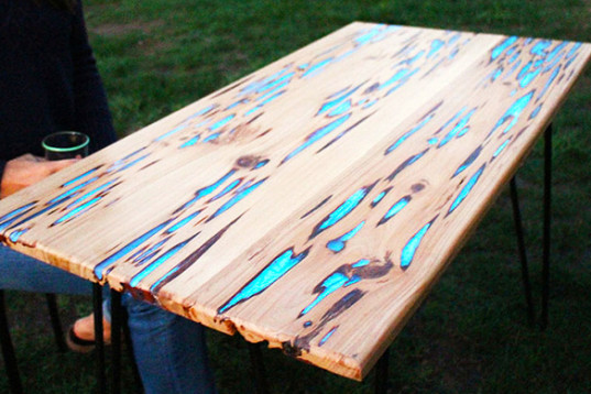 Make Your Wooden Table Glow In The Dark With This Simple Trick