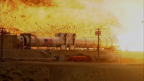 NASA Tests Mars Rocket Booster