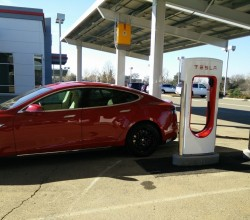 Tesla's First Solar Powered Supercharging Site