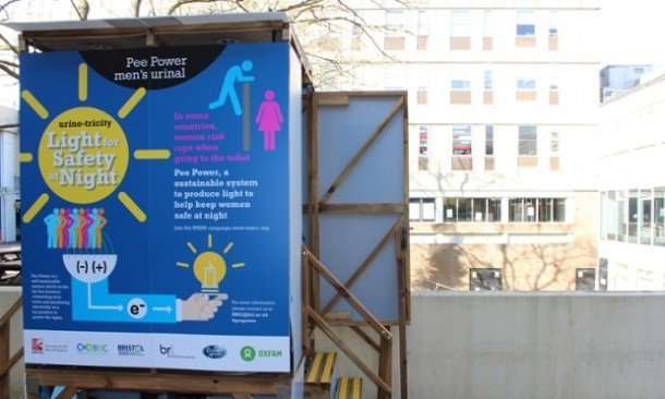 Urinal Prototype – Electricity from Urine4