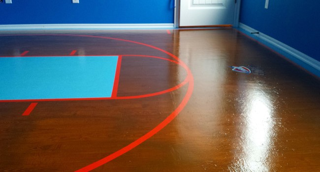Amazing DIY Basketball Court for His Daughter 11