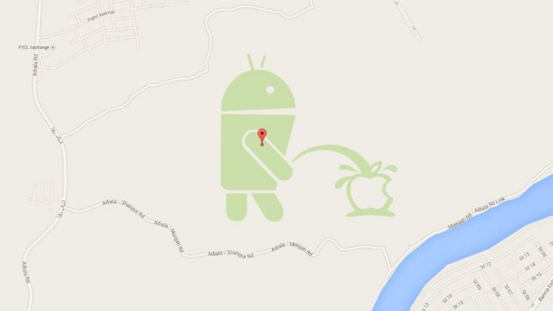 Android-peeing on apple