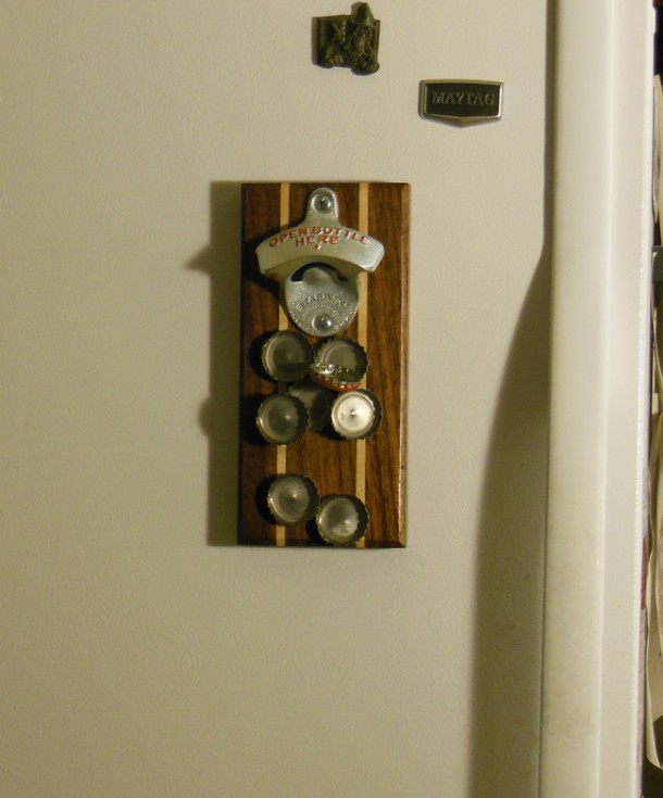 DIY Wall Mounted Bottle Opener 9