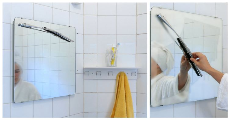 Get Rid Of Fog In Your Mirror After A Shower With This Cool Wiper Gadget