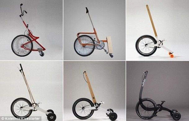 Halfbike – Single Wheel and a Stick For Steering4