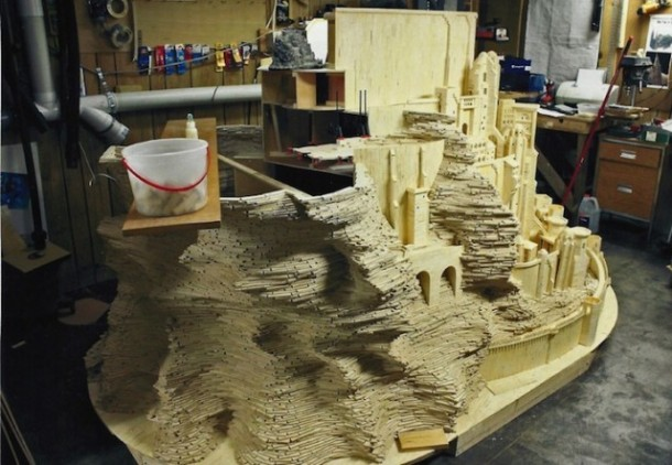 He Created this Model Castle in 3 Years With Something You'd Never Have Imagined 2