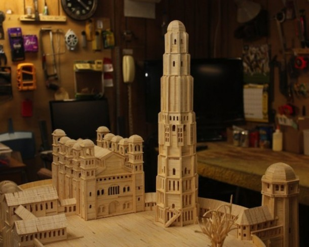 He Created this Model Castle in 3 Years With Something You'd Never Have Imagined 4