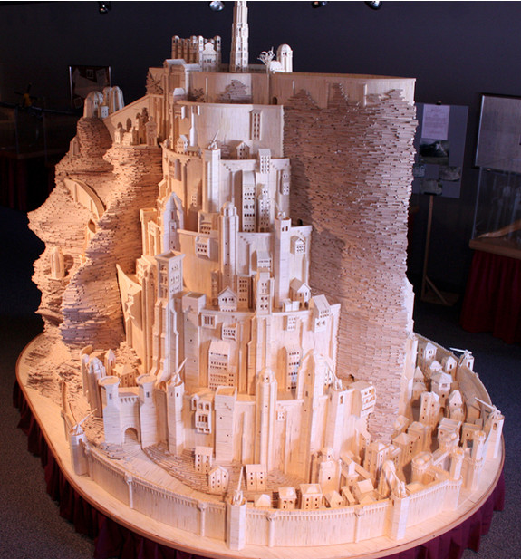 He Created this Model Castle in 3 Years With Something You'd Never Have Imagined 5