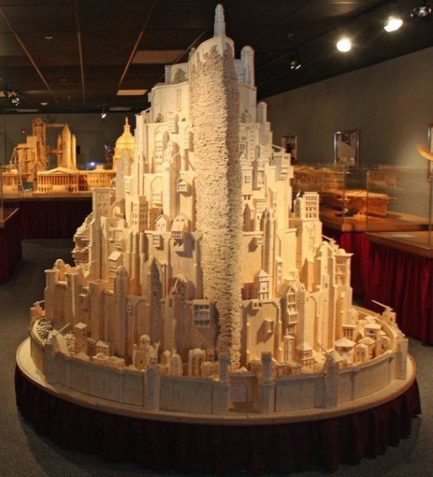 He Created this Model Castle in 3 Years With Something You'd Never Have Imagined