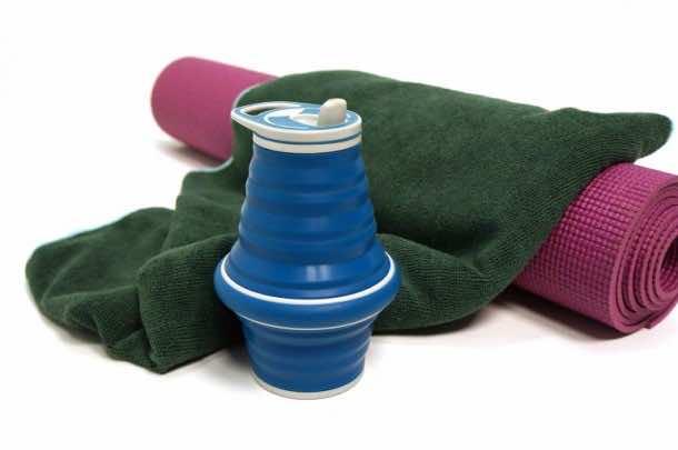 Hydaway Water Bottle Folds into A Disc