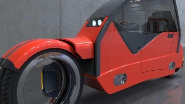 Lane Splitter Concept Car Transforms into Two Motorbikes 10