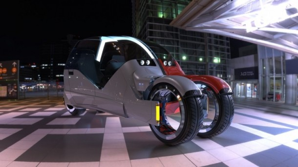 Lane Splitter Concept Car Transforms into Two Motorbikes 2