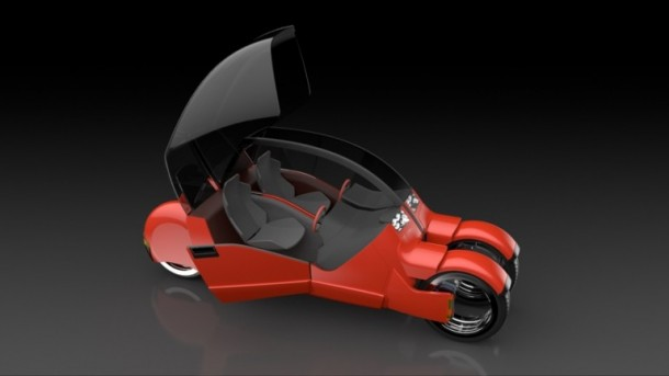 Lane Splitter Concept Car Transforms into Two Motorbikes 8