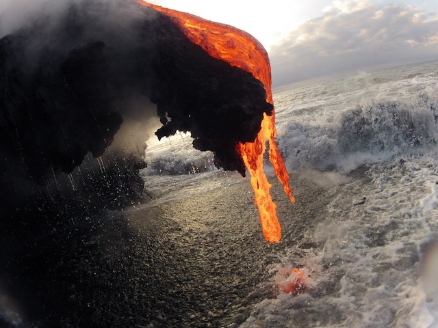 This Is What Happens When Molten Lava Meets An Ocean