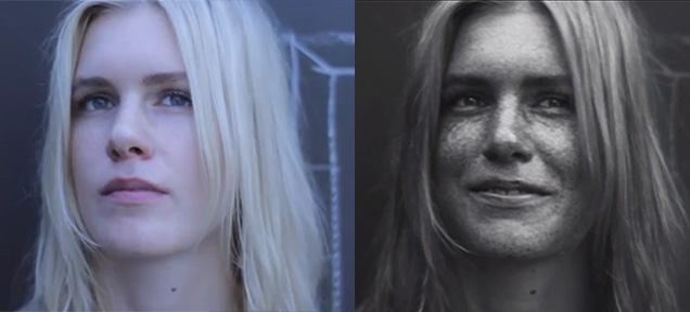 Skin under UV light