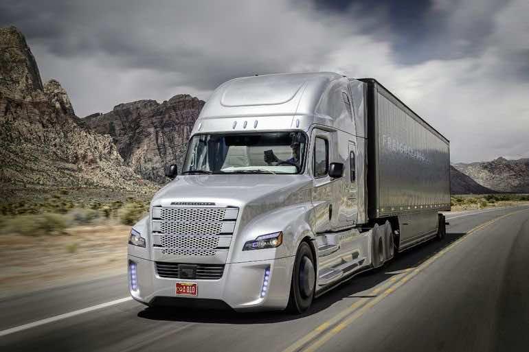 Autonomous Freightliner Inspiration truck 2