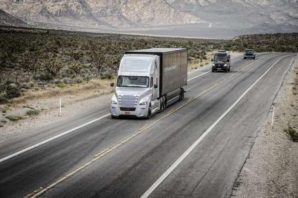 Autonomous Freightliner Inspiration truck 5