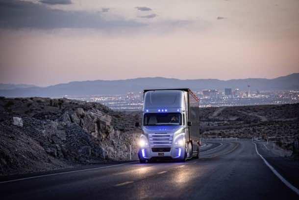 Autonomous Freightliner Inspiration truck