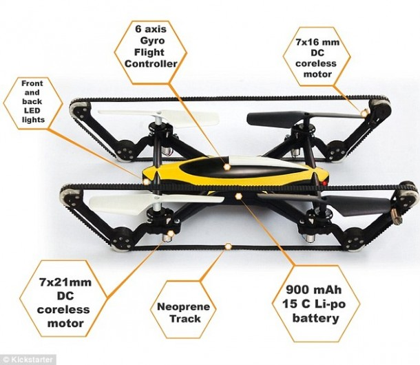 B-Unstoppable A Hybrid Tank Quadcopter 4