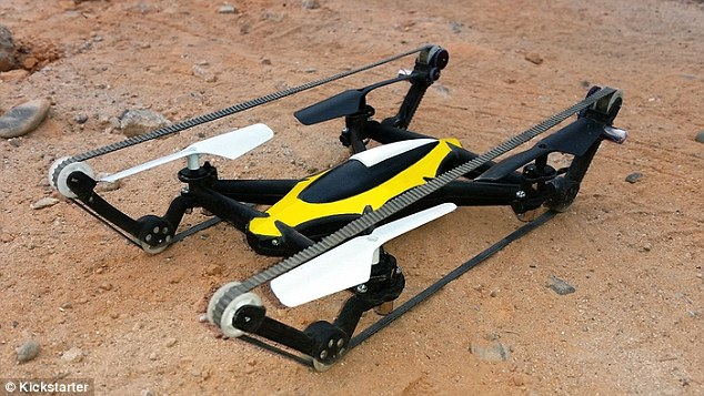 B-Unstoppable Is A Hybrid Tank Quadcopter That Can Fly And Also Move On Land
