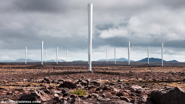 Bladeless wind turbine