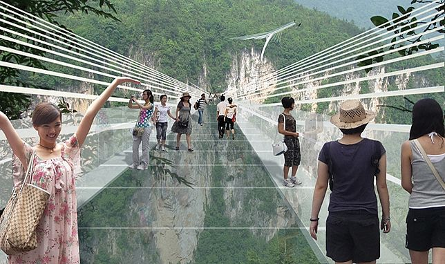 China To Open World's Longest Glass Bridge Next Year
