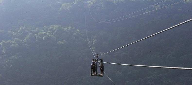 Chinese City Zip Line