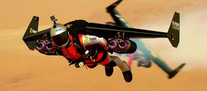 Flying Men Over Dubai