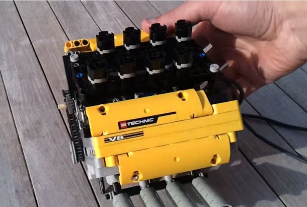 LEGO V8 pneumatic Engine. LPE  HIGH RPM 2