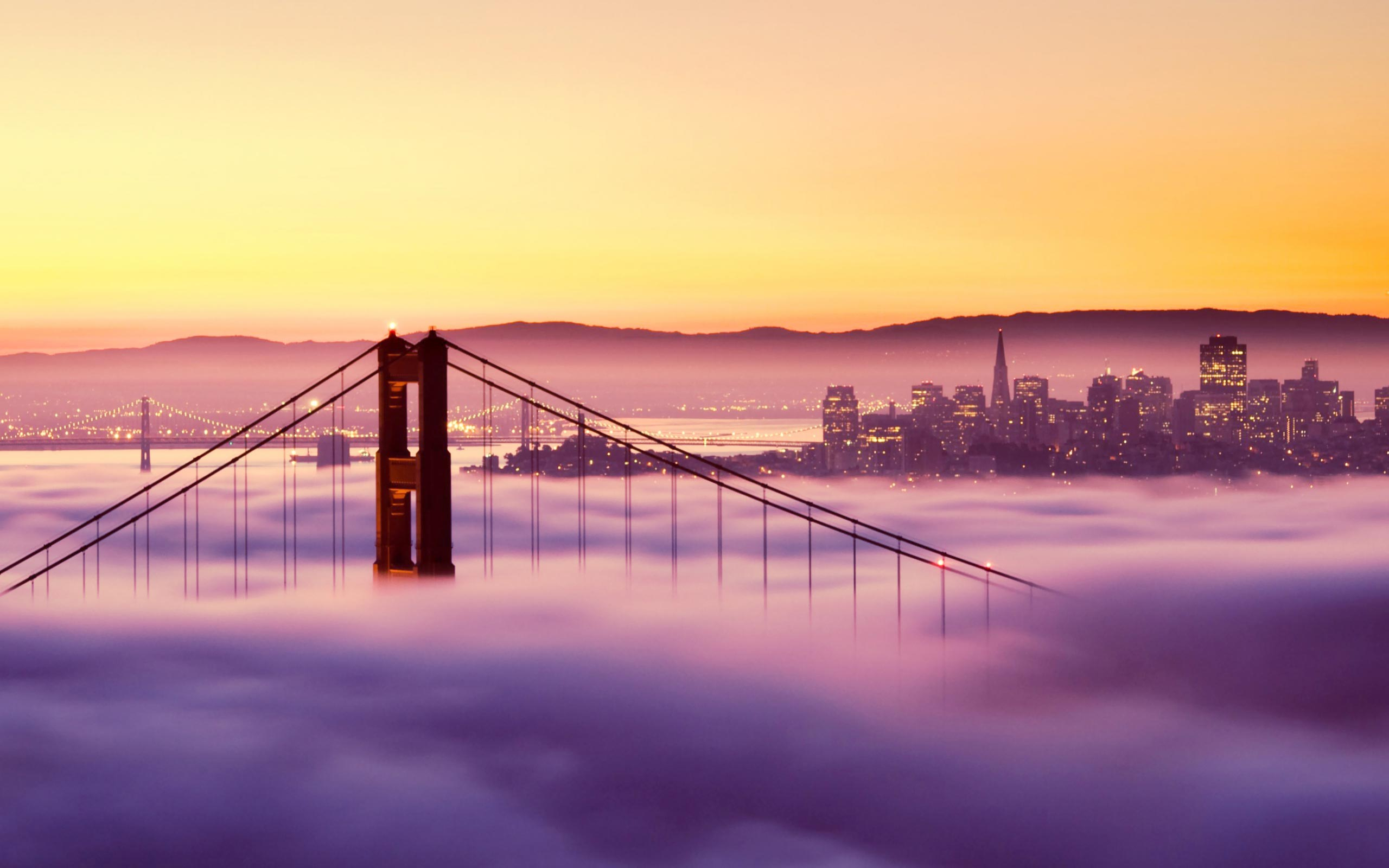 Free Download San Francisco Wallpapers The Golden Area Through The Golden Gate Bridge