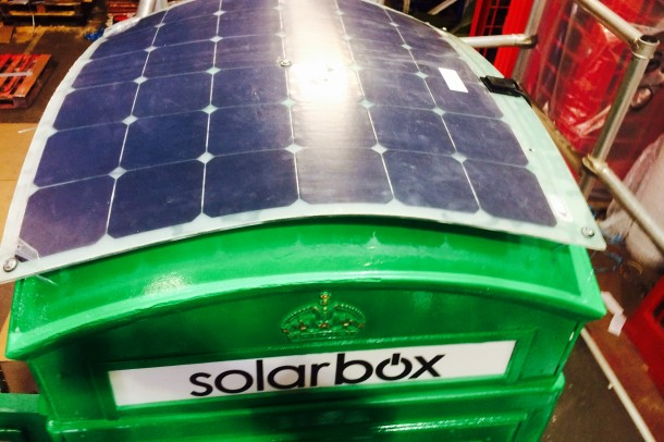 Solar Phone Booth Shall Charge Your Device – London Calling 2