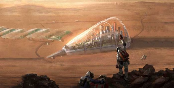 Stunning Future Of Mars Through An Artist's Canvas