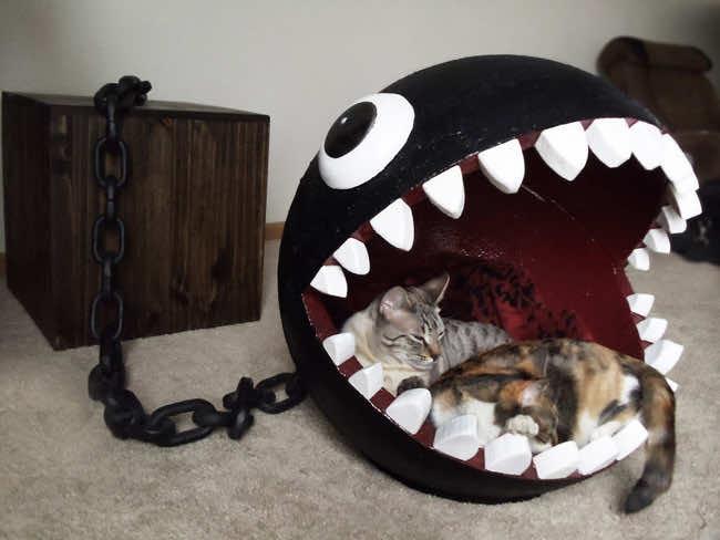 Super Mario Bros Themed Cat Bed 10