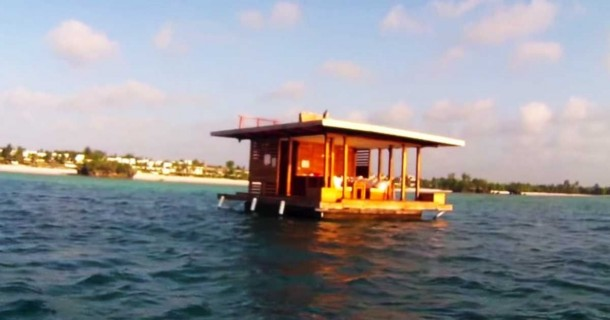 This Floating Hotel Has Something Hidden Underneath It