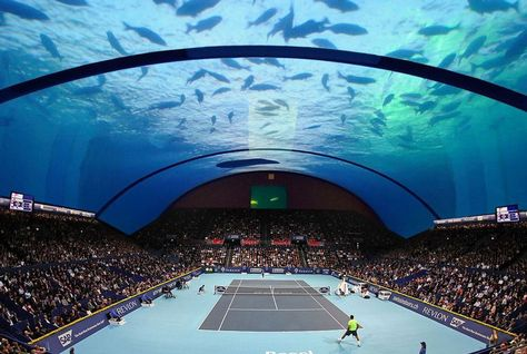 Underwater tennis court
