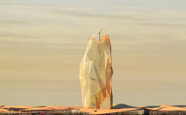 Vertical City Concept For Sahara